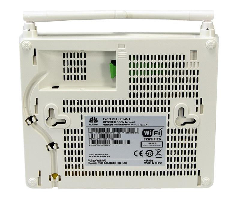 Huawei • HG8245H • GPON ONT ( 1xGPON, 4xGE, 2xPOTS, WiFi, USB )