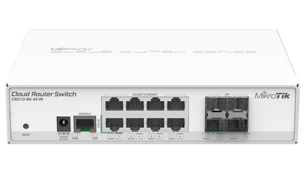 MIKROTIK • CRS112-8G-4S-IN • Cloud Router Switch