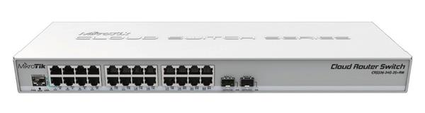 MIKROTIK • CRS326-24G-2S+RM • 24-port Gigabit Cloud Router Switch