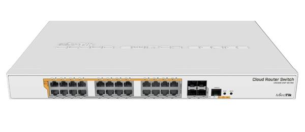 MIKROTIK • CRS328-24P-4S+RM • 24-port Gigabit Cloud Router Switch