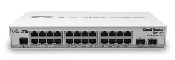 MIKROTIK • CRS326-24G-2S+IN • 24-port Gigabit Cloud Router Switch