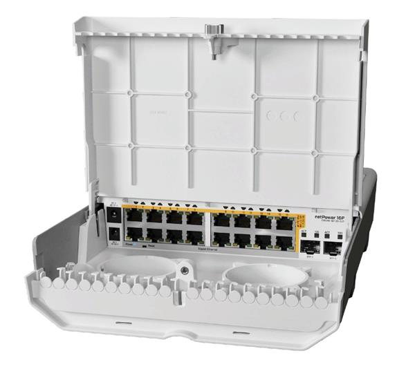 MIKROTIK • CRS318-16P-2S+OUT • 18-portový switch netPower 16P s PoE